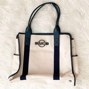 MICHAEL KORS Canvas & Leather Bag